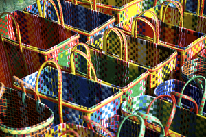 Wandbild Colorful Baskets