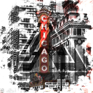 Wandbild Chicago | Geometric Mix No. 2