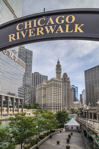 Wandbild CHICAGO Riverwalk
