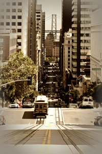 Wandbild SAN FRANCISCO California Street