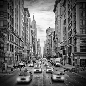 Wandbild NEW YORK CITY 5th Avenue Verkehr | Monochrom