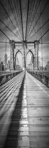 Wandbild NEW YORK CITY Brooklyn Bridge | Panorama vertikal