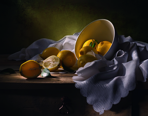 Wandbild Still life with lemons by Svetlana L