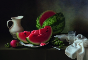 Wandbild Still life with melon