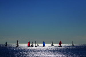 Wandbild Sailing by Davide Erbetta, HUBER IMAGES