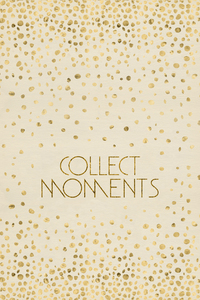 Wandbild Textkunst COLLECT MOMENTS | glänzendes Gold