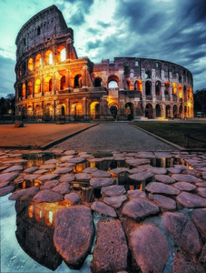 Wandbild The Colosseum by Massimo Cuomo, 1x.com