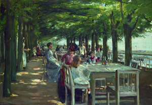 Wandbild Restaurant Jacob in Nienstedten a.d.E von Max Liebermann by artothek