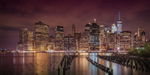 Wandbild NEW YORK CITY Impression bei Nacht | Panorama